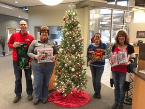 stocking toy drive SUGAR RIVER BANK