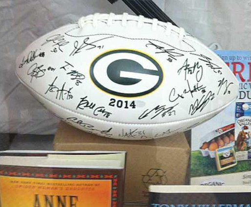 packers football autographed 2014